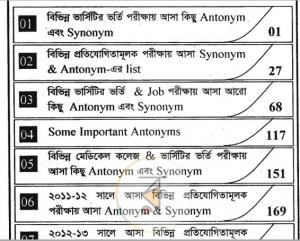 সাইফুর'স এর Synonym Antonym pdf
