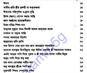 মহিলা বিষয়ক হাদীস সংকলন pdf বই ডাউনলোড