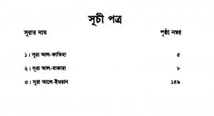 শব্দার্থে কুরআনুল মাজীদ ১ম খন্ড pdf বই ডাউনলোড