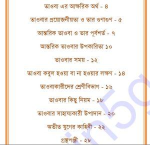 আন্তরিক তাওবা pdf বই ডাউনলোড