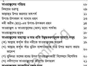আল্লাহর উপর ভরসা pdf বই ডাউনলোড