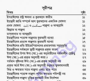 কুরআন হাদীসের আলোকে ইসরাইল pdf বই ডাউনলোড সুচীপত্র