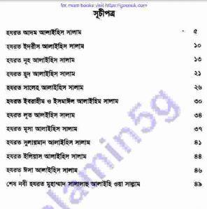 ছোটদের নবী রাসুল pdf বই ডাউনলোড সুচীপত্র