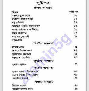 ছোটদের প্রিয়নবী সাঃ pdf বই ডাউনলোড সুচীপত্র