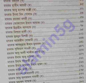 তাজকিরাতুল আউলিয়া pdf বই ডাউনলোড সুচীপত্র