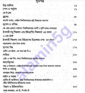 পাশ্চত্য সভ্যতায় ইসলাম pdf বই ডাউনলোড সুচীপত্র