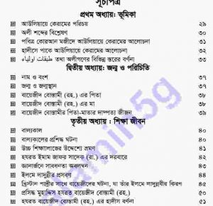 বায়েজিদ বোস্তামী pdf বই ডাউনলোড সুচীপত্র