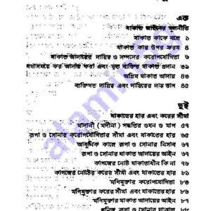 যাকাতের আইনও দর্শন pdf  বই ডাউনলোড  সুচীপত্র