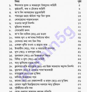 হাদীছের গল্প pdf বই ডাউনলোড সুচীপত্র