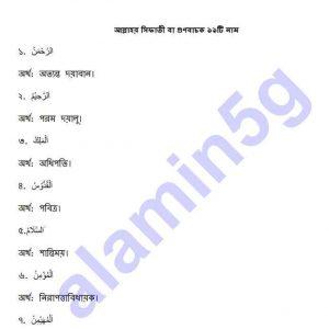 আমালুস সুন্নাহ pdf বই ডাউনলোড সুচীপত্র