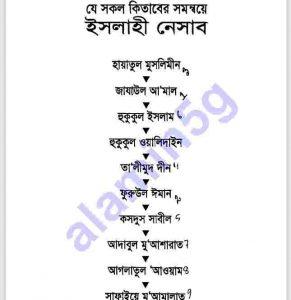 ইসলামী নেসাব pdf বই ডাউনলোড সুচীপত্র