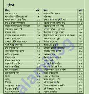 মহিলাদের হজ্জ্ব ও  ওমরাহ pdf বই ডাউনলোড সুচীপত্র