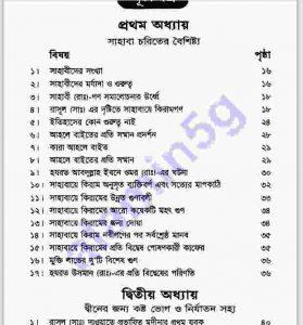সহজ হেকায়াতে সাহাবা pdf বই ডাউনলোড সুচীপত্র