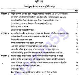 সহীহ মুসলিম শরীফ ২য়-খন্ড pdf বই ডাউনলোড সুচীপত্র