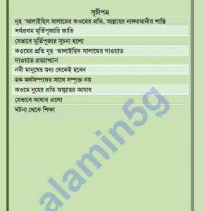 হযরত নূহ আঃ pdf বই  ডাউনলোড সুচীপত্র