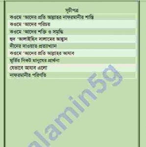 হযরত হুদ আঃ pdf বই ডাউনলোড সুচীপত্র