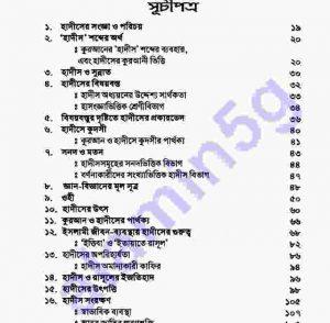 হাদীস সংকলনের ইতিহাস pdf বই ডাউনলোড সুচীপত্র