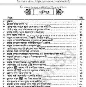 আকীদাতুত্ব ত্বহাবী pdf বই ডাউনলোড সুচীপত্র