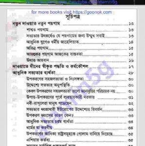 নতুন দাওয়াত নতুন পয়গাম pdf বই ডাউনলোড সুচীপত্র