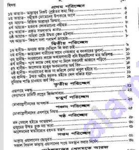 ফাজায়েলে  আমল ১ম খন্ড pdf বই ডাউনলোড সুচীপত্র