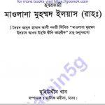 হযরতজী মাওলানা ইলিয়াস pdf বই ডাউনলোড